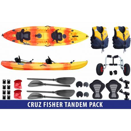 Cruz Fisher Tandem Pack Galaxy Kayaks