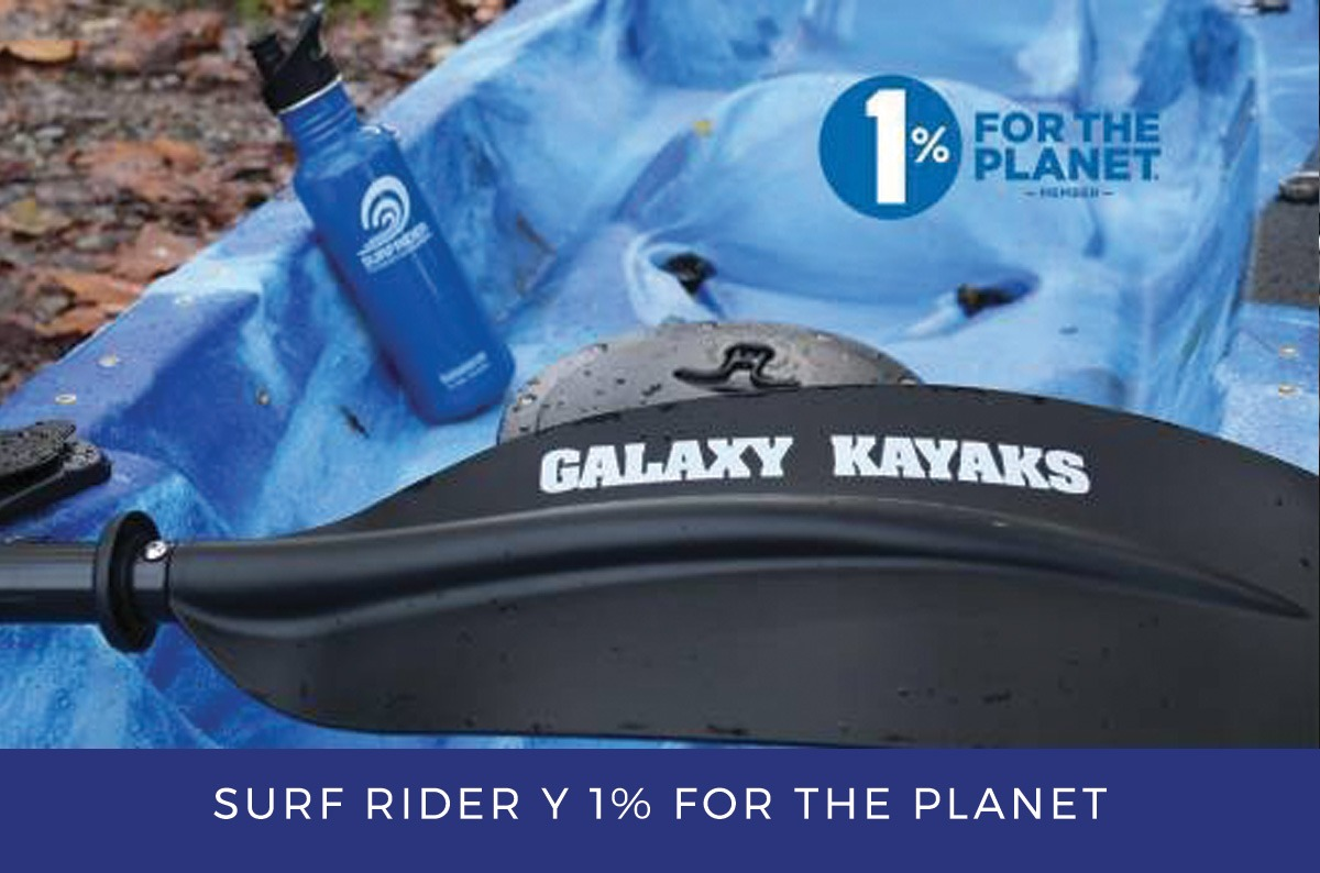 Galaxy Kayaks partners with 1% for the Planet and Surfrider